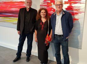 Michael Jastram, Gotlind Timmermanns, Bernd Zimmer in der Zedergalerie